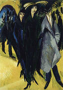 Woman in the Street 1915 By Ernst Kirchner