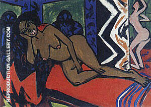 Milly Sleeping 1911 By Ernst Kirchner Replica Paintings on Canvas - Reproduction Gallery