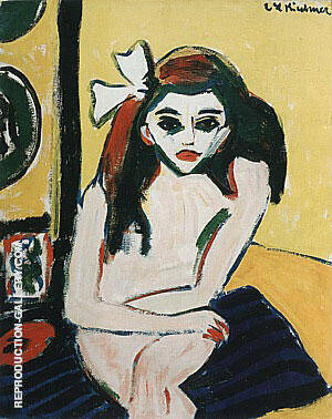 Marcella c1909 By Ernst Kirchner - Oil Paintings & Art Reproductions - Reproduction Gallery