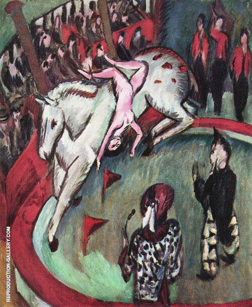 Girl Circus Rider 1912 Painting By Ernst Kirchner - Reproduction Gallery