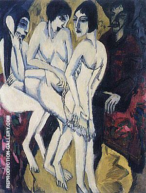 Judgement of Paris 1913 By Ernst Kirchner