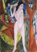 Nude Combing her Hair 1913 By Ernst Kirchner