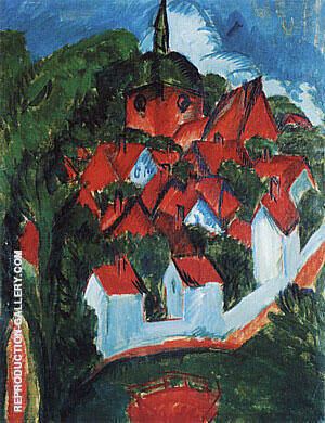 Burg on Fehmarn 1912 Painting By Ernst Kirchner - Reproduction Gallery