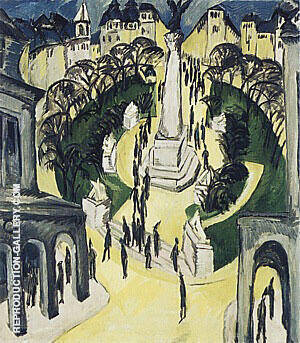Belle-Alliance-Platz Berlin 1914 By Ernst Kirchner - Oil Paintings & Art Reproductions - Reproduction Gallery