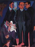 An Artist's Group Otto Mueller Kirchner Heckel Schmidt-Rottluff c1926-27 By Ernst Kirchner