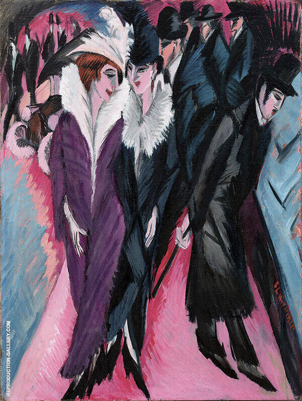 The Street, Berlin 1913 Painting By Ernst Kirchner - Reproduction Gallery