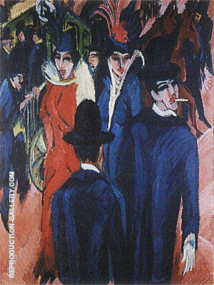 Reproduction of Berlin Street Scene 1913 by Ernst Kirchner | Oil Painting Replica On CanvasReproduction Gallery