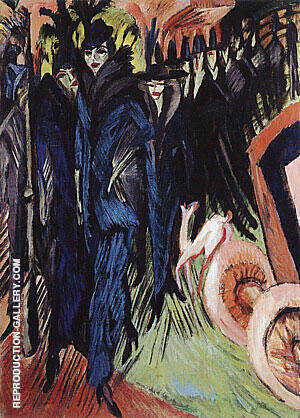 Friedrichstrasse Berlin 1914 By Ernst Kirchner - Oil Paintings & Art Reproductions - Reproduction Gallery