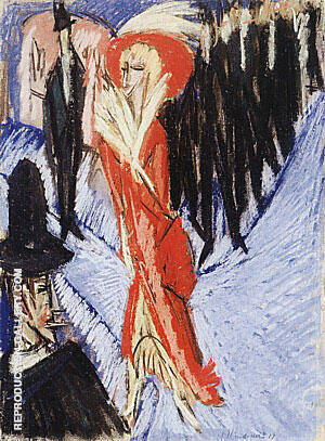 Red Cocotte 1914 By Ernst Kirchner - Oil Paintings & Art Reproductions - Reproduction Gallery
