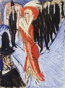 Red Cocotte 1914 By Ernst Kirchner