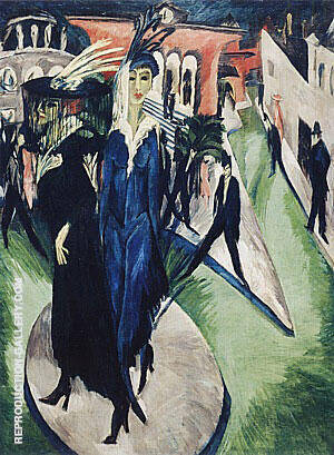 Potsdamer Platz Berlin 1914 By Ernst Kirchner Replica Paintings on Canvas - Reproduction Gallery