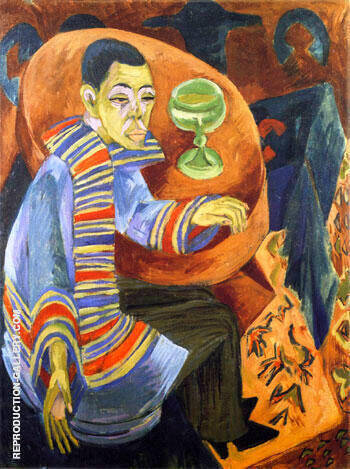 The Drinker Self-Portrait c1914-15 Painting By Ernst Kirchner