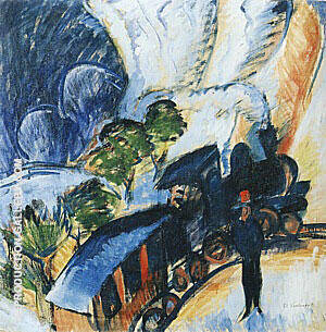 Konigstein Railway Station 1917 Painting By Ernst Kirchner