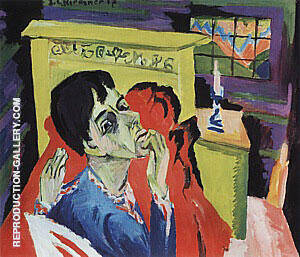 Self-Portrait as a Sick Man c1918 By Ernst Kirchner Replica Paintings on Canvas - Reproduction Gallery