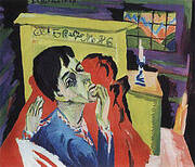 Self-Portrait as a Sick Man c1918 By Ernst Kirchner