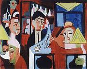 Cafe in Davos 1928 By Ernst Kirchner