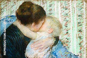 A Goodnight Hug By Mary Cassatt - Oil Paintings & Art Reproductions - Reproduction Gallery