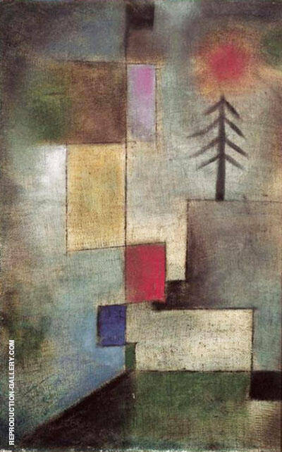 Reproduction of Little Pine Tree 1922 by Paul Klee | Oil Painting Replica On CanvasReproduction Gallery