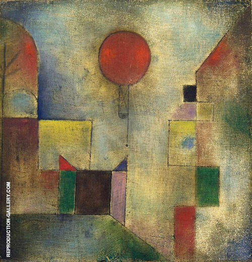 Red Balloon 1922 By Paul Klee Replica Paintings on Canvas - Reproduction Gallery