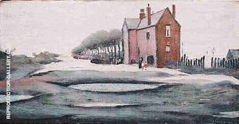 Lonely House Painting By L-S-Lowry - Reproduction Gallery