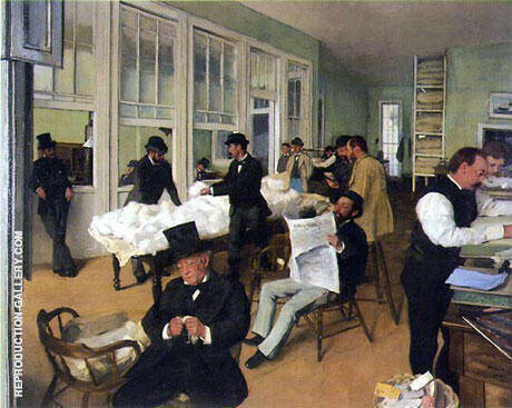 Reproduction of The Cotton Exchange in New Orleans 1873 by Edgar Degas | Oil Painting Replica On CanvasReproduction Gallery