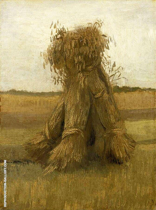 Sheaves of Wheat in a Field 1883 By Vincent van Gogh