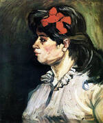 Portrait of a Woman with Red Ribbon 1885 By Vincent van Gogh
