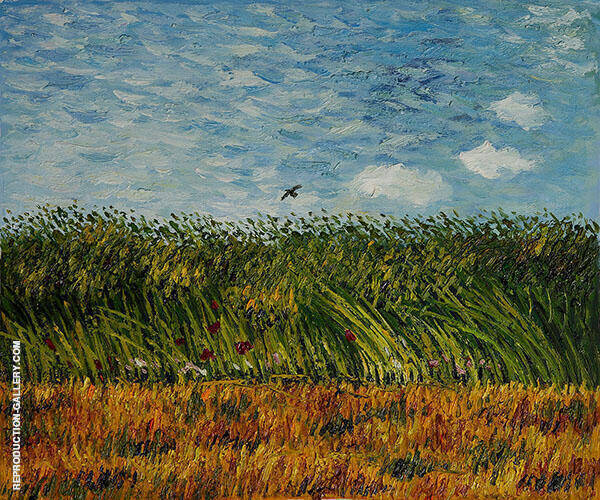 Edge of a Wheat Field with Poppies and a Lark c1887 Painting By ...