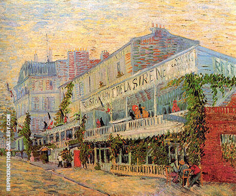 The Restaurant de la Sirene at Asnieres 1887 By Vincent van Gogh