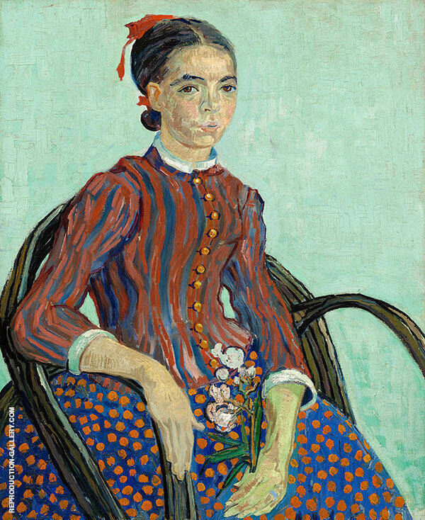 La Mousme Sitting 1888 Painting By Vincent van Gogh - Reproduction Gallery