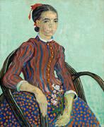 La Mousme Sitting 1888 By Vincent van Gogh