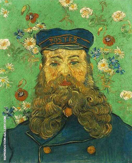 Portrait of the Postman Joseph Roulin 1889 By Vincent van Gogh