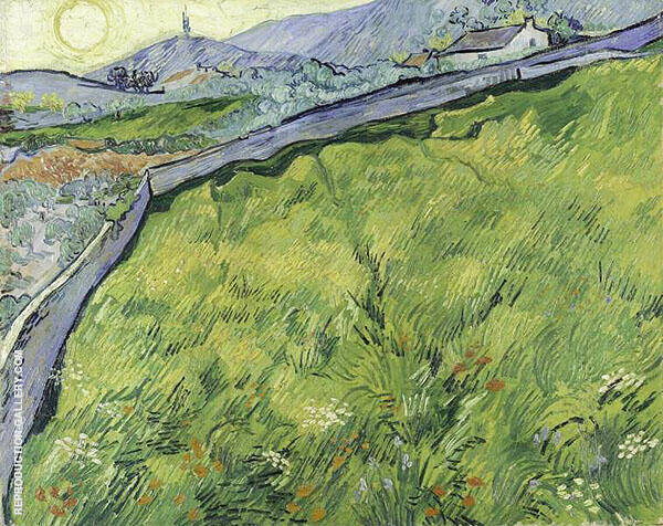 Enclosed Wheat Field with Rising Sun 1889 Painting By Vincent van Gogh