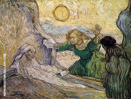 A Scene from The Raising of Lazarus after the etching by Rembrandt, 1890 By Vincent van Gogh