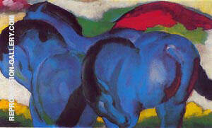 The Little Blue Horses 1911 By Franz Marc Replica Paintings on Canvas - Reproduction Gallery