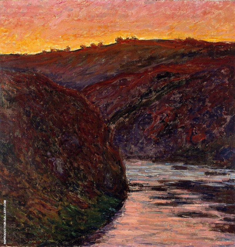Valley of the Creuse Sunset 1889 By Claude Monet