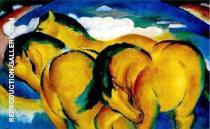 Yellow Horses By Franz Marc Replica Paintings on Canvas - Reproduction Gallery