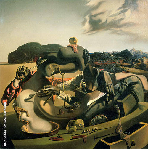 Cannibalism in Autumn c1936 Painting By Salvador Dali