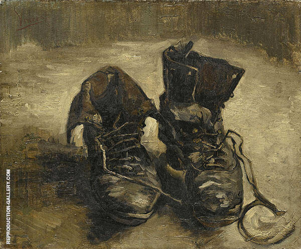 Pair of Shoes 1886 by Vincent van Gogh | Oil Painting Reproduction Replica On Canvas - Reproduction Gallery