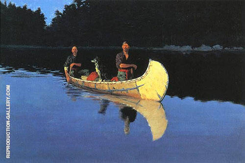 Evening on a Canadian Lake By Frederic Remington