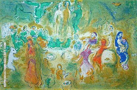 Wedding Feast in the Nymph's Grotto By Marc Chagall