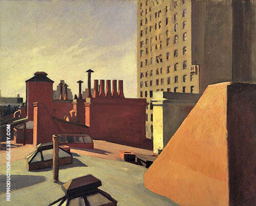 City Roofs, 1932 By Edward Hopper