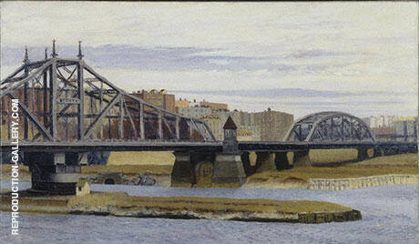 Reproduction of Macomb's Dam Bridge, 1935 by Edward Hopper | Oil Painting Replica On CanvasReproduction Gallery