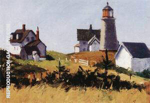 Monhegan Lighthouse c1916 By Edward Hopper