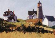 Monhegan Lighthouse c1916 By Edward Hopper