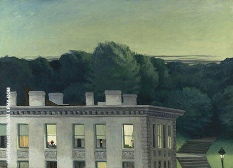 House At Dusk 1935 Painting By Edward Hopper - Reproduction Gallery