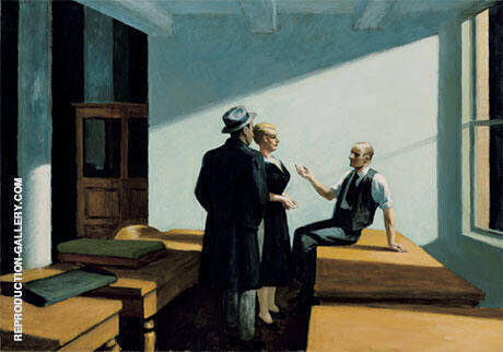 Conference At Night, 1949 By Edward Hopper