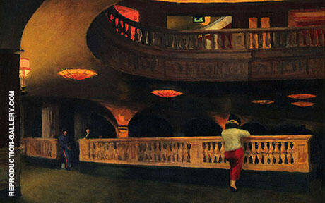 Reproduction of The Sheridan Theatre, 1937 by Edward Hopper | Oil Painting Replica On CanvasReproduction Gallery