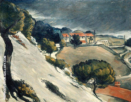 Snow Thaw in L'Estaque, c. 1870 By Paul Cezanne