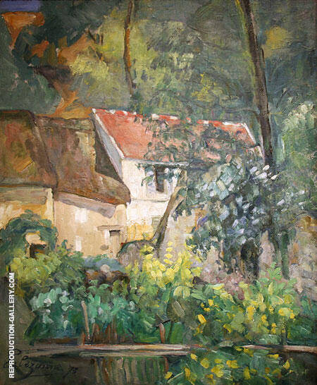 The House of Pere Lacroix in Auvers, 1873 By Paul Cezanne - Oil Paintings & Art Reproductions - Reproduction Gallery